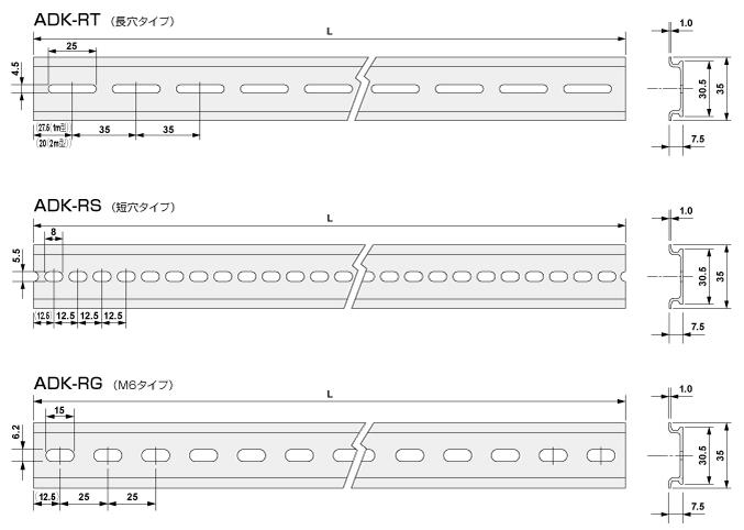DINレール|DINレール|盤用構造材|盤用パーツ|製品情報|電材部品の ...